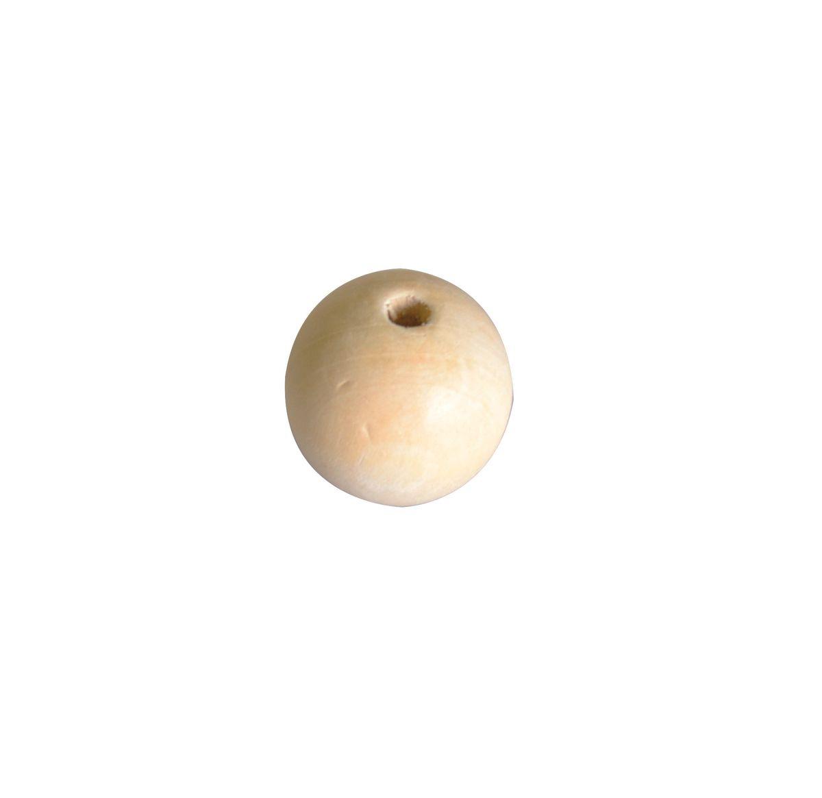 4 perles bois 30mm