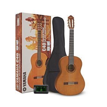 Pack Guitare Classique Naturelle Yamaha C40 II