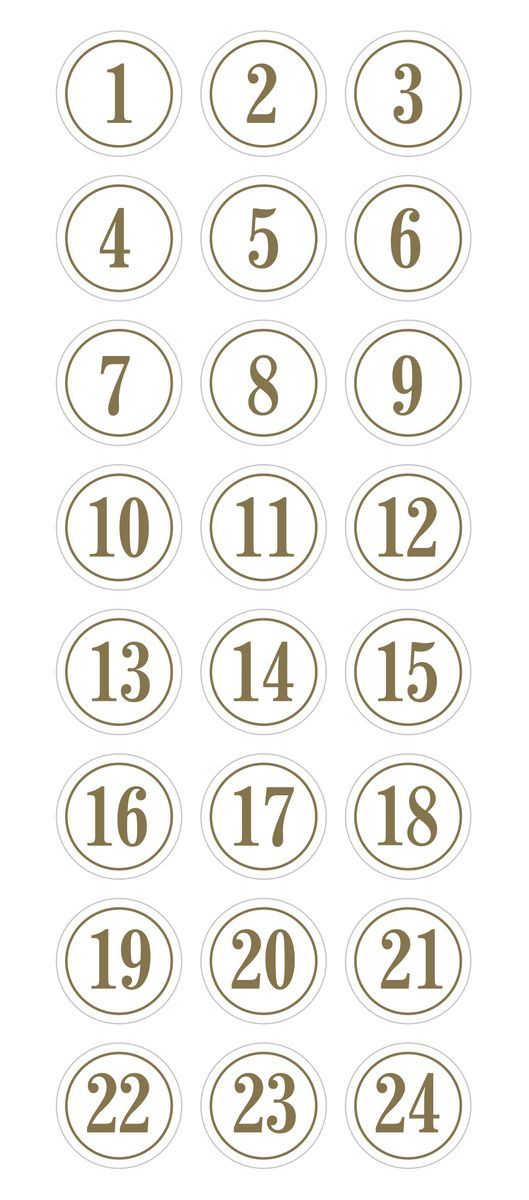 puffies calendrier avent rond gold