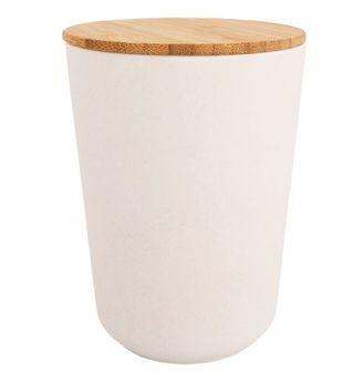 Boîte de réserve en bambou, ronde, 700ml, 10,5cm ø,14cm, boîte 1pce