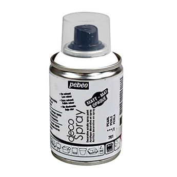 Bombe de peinture - DecoSpray - Blanc Mat - 100 ml - Pébéo