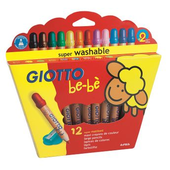 12 Maxi crayons de couleur - Giotto be-bè