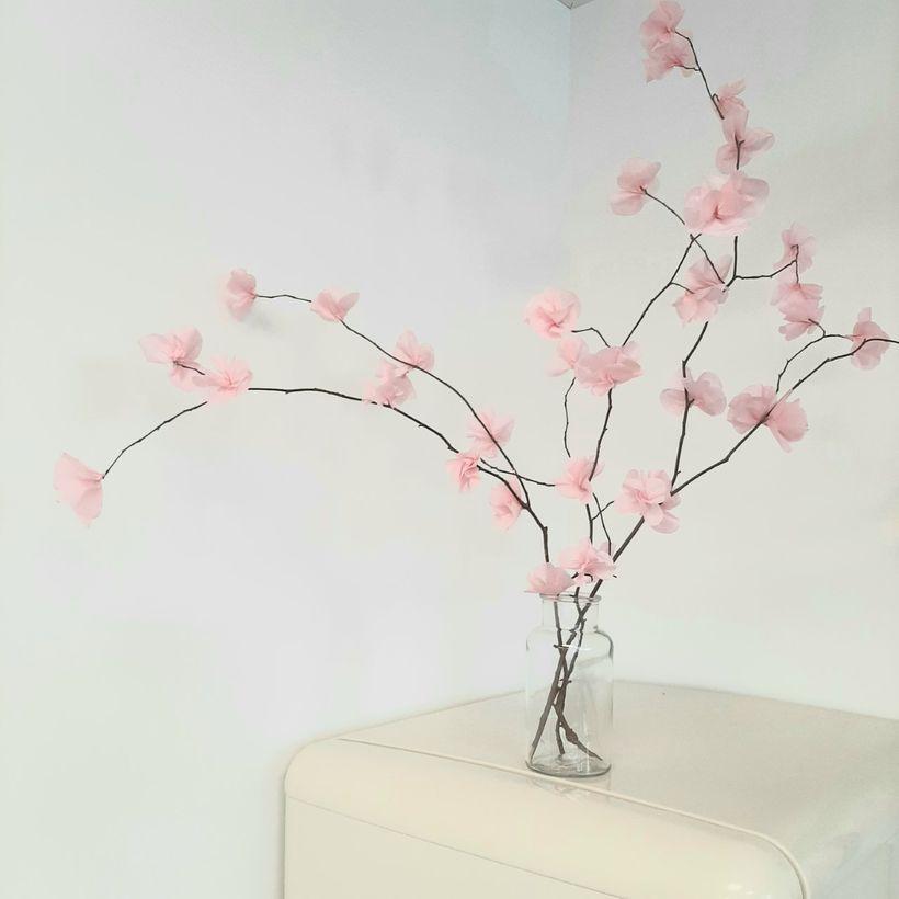 Les fleurs de cerisiers en papier de soie