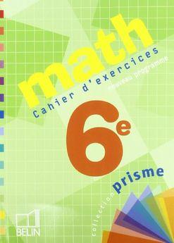 MATH 6E - CAHIER D´EXERCICES