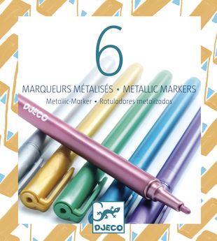 6 marqueurs métalliques