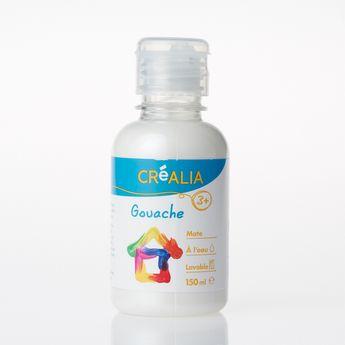 Gouache - Créalia - 150 ml - Blanc Métallisé