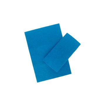 Set 2 feuilles feutrines bleues marine - Créalia
