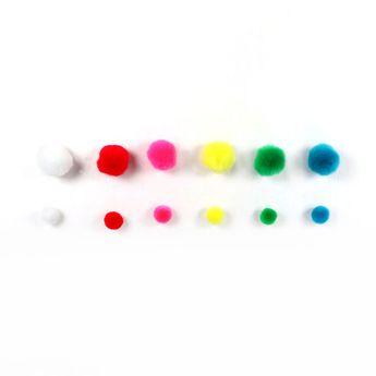 Set 120 pompons multicolores - Créalia
