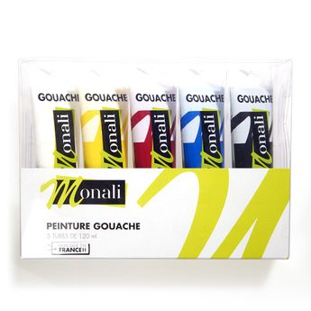 Gouache primaire - pack 5 tubes 120ML