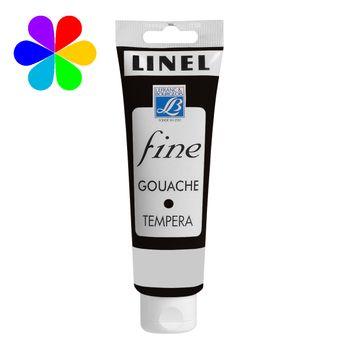 Gouache Linel 120ml noir ivoire