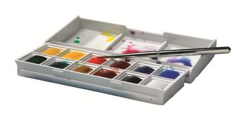 Aquarelle fine Cotman - Boîte plastique Sketchers - 12 demi-godets
