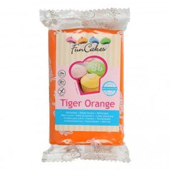Pâte à sucre  - orange - 250g