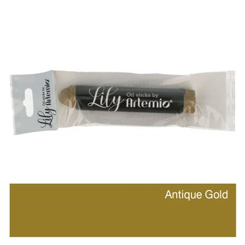 Lily oil paint crayon 17x100mm antique gold