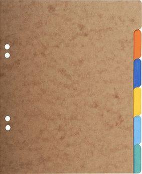 Intercalaires carte lustrée 225g 6 positions - format écolier 17x22cm