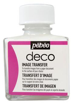 Medium - Deco Effet + - Transfert d'Image Transparent - 75 ml - Pébéo
