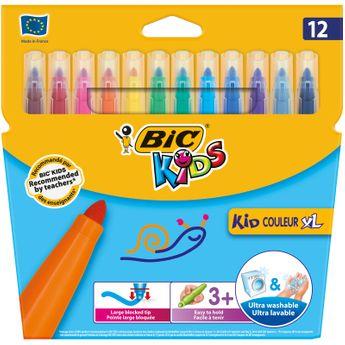 BIC 12  feutres de coloriage Kids Kid Couleur XL