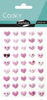 Cooky, Sach 1 pl 7,5x12cm, Emoticones coeurs