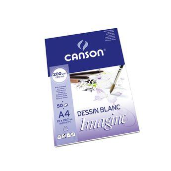 Bloc de 50 Feuilles Imagine Canson A4 200gr - Blanc