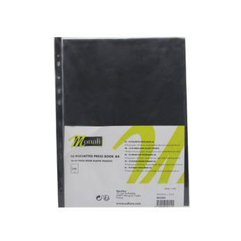 10 pochettes pour press book format A4 - Monali