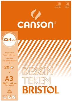 BL  20 F BRISTOL CANSON®  A3 224G  BLANC