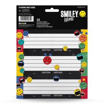 Étiquettes scolaires - Smiley Wd Crazy Things